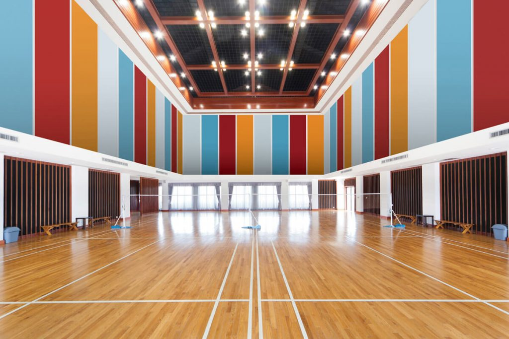 Acoustic Wall Panel in a Gym- Sonant